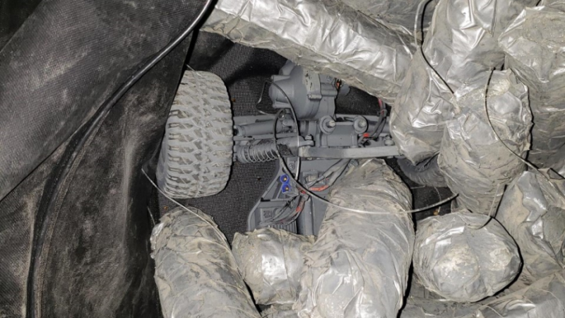 Teen arrested on suspicion of using remote-controlled car to smuggle drugs across border