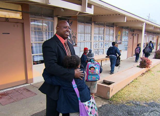 From janitor to principal and only starting at 39 years old.  What an acomplishment!